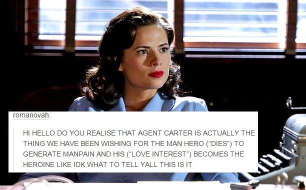 """agent carter + text posts"""