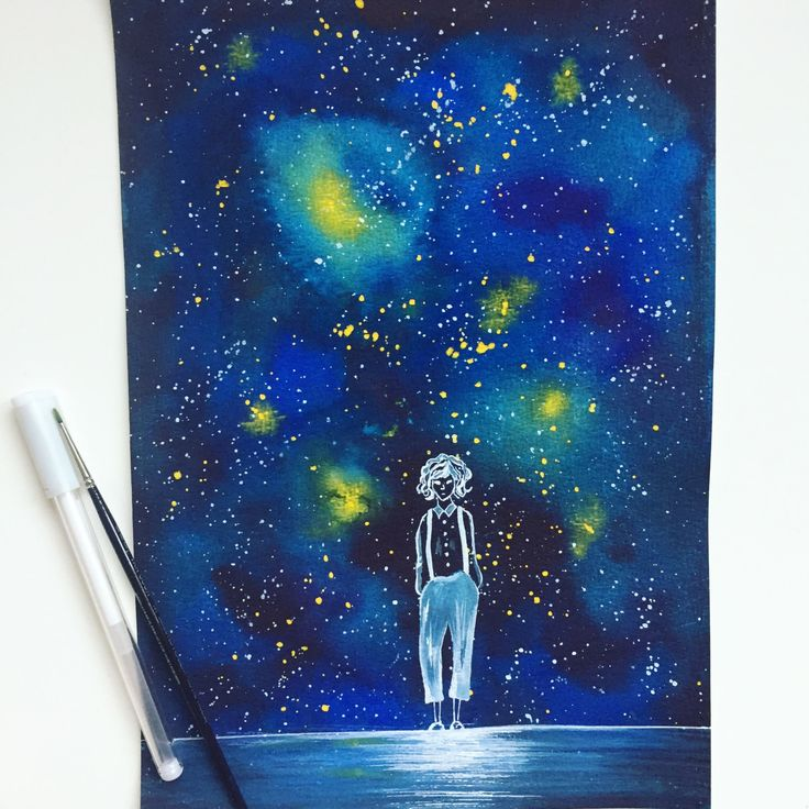 Galaxy Girl by Artnocte on Etsy