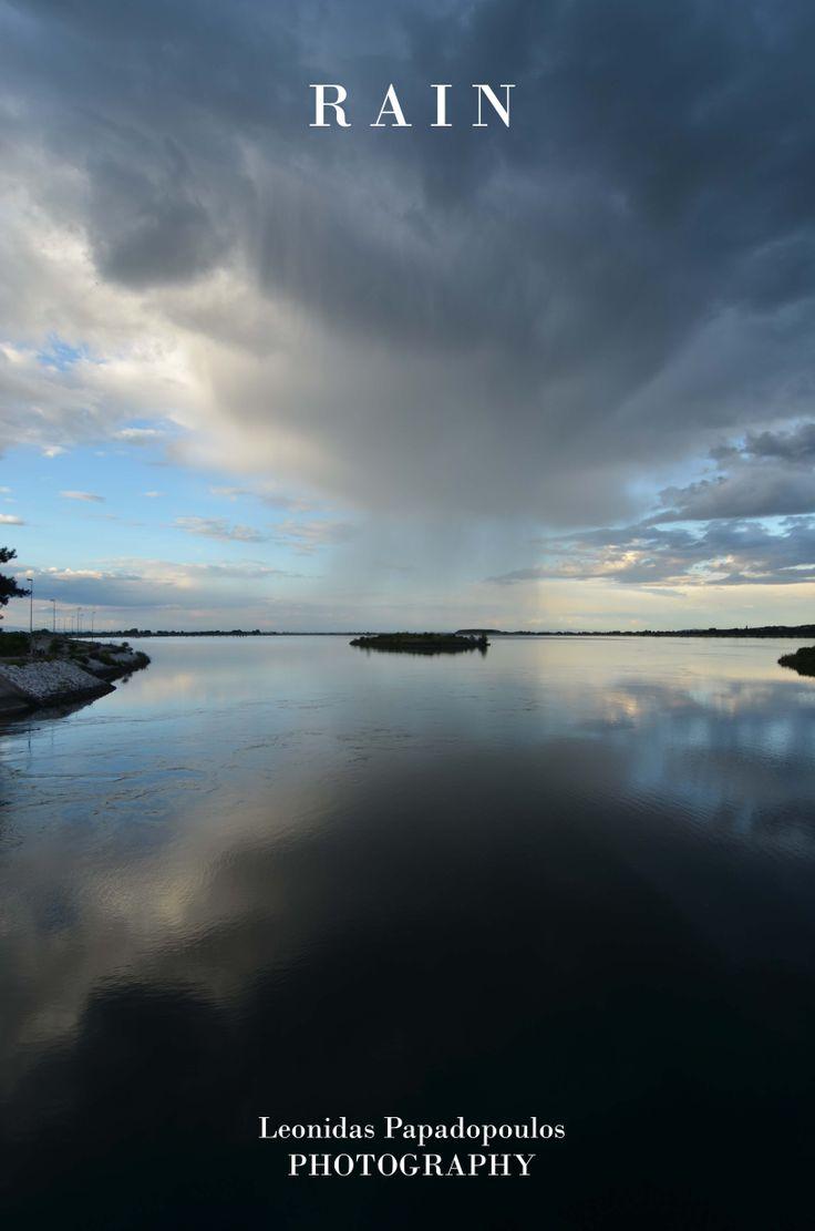 Rain in Aliakmon River
