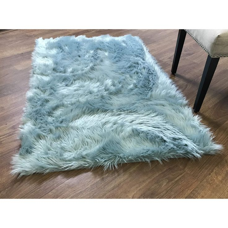 Faux Fur Shag Rug Teal High Quality Carpet Polyester  #rugs #floors #decorating #carpet #classy #decor #interiorstyling #homeaccents #arearugs #homedesign
