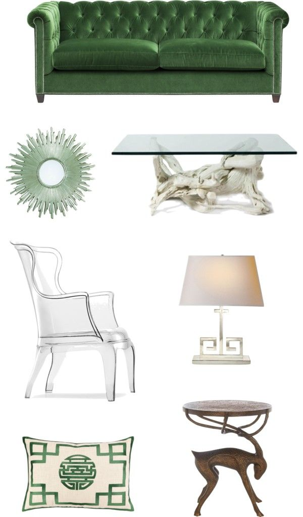 Inspiration Monday – Forest Green Living Room via The Blissful Bee Blog