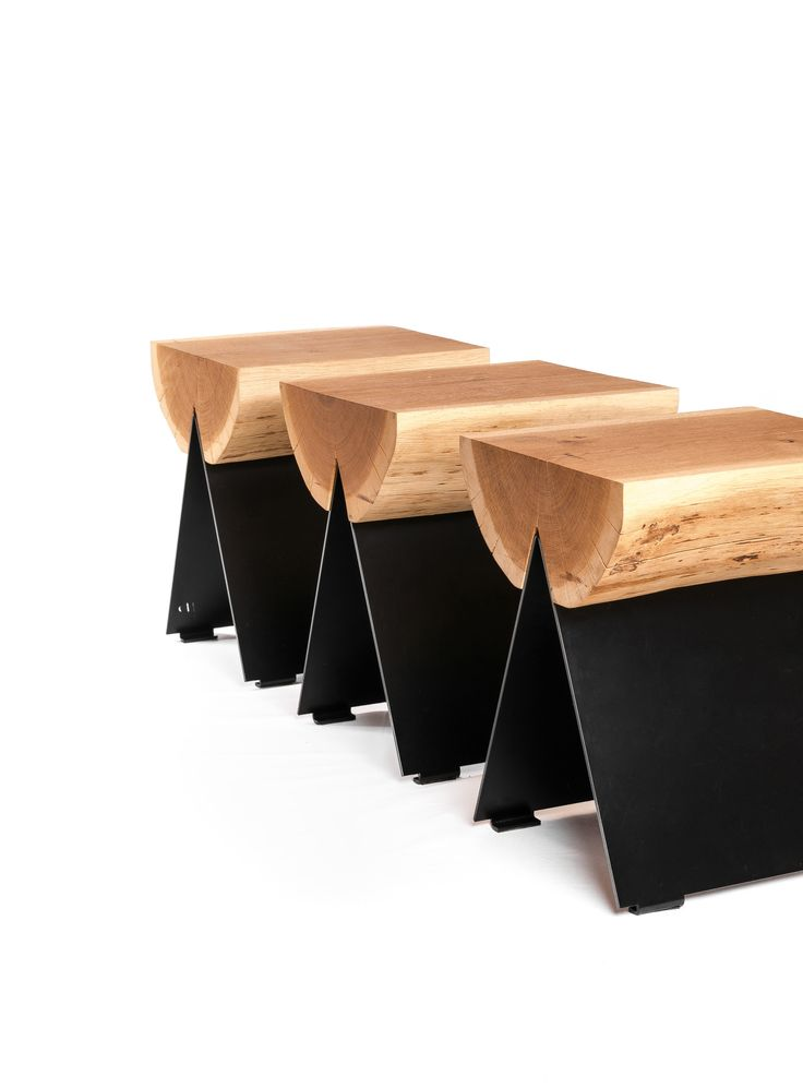 Fun seating range made with sustainable timber sawn and fixed to laser cut steel feet, suitable indoor or outdoors.
