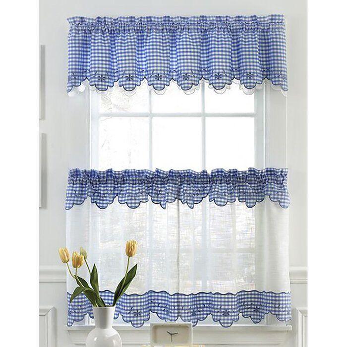 Adjustable Flat Sash Curtain Single Rod Home Curtains