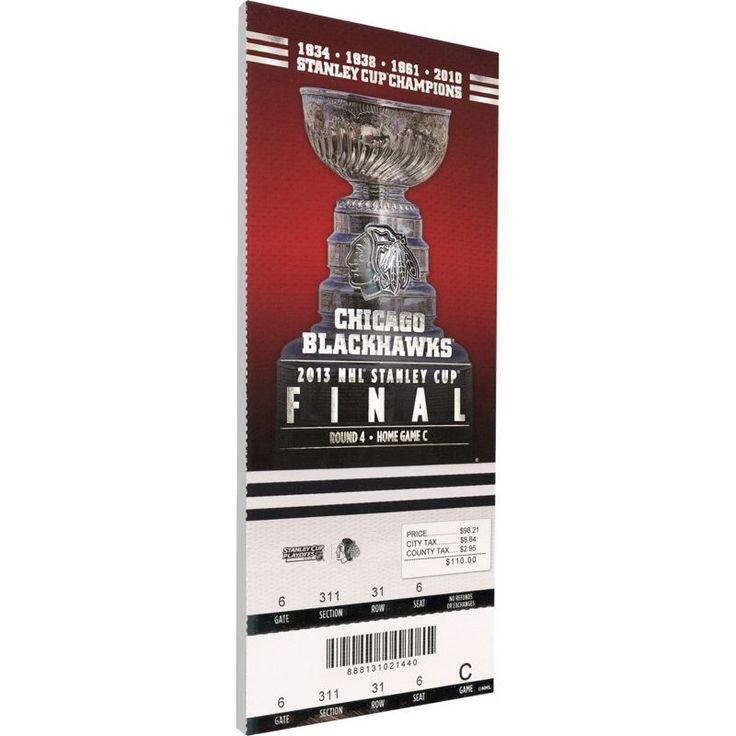 That's My Ticket Chicago Blackhawks 2013 Stanley Cup Final Ticket, Team