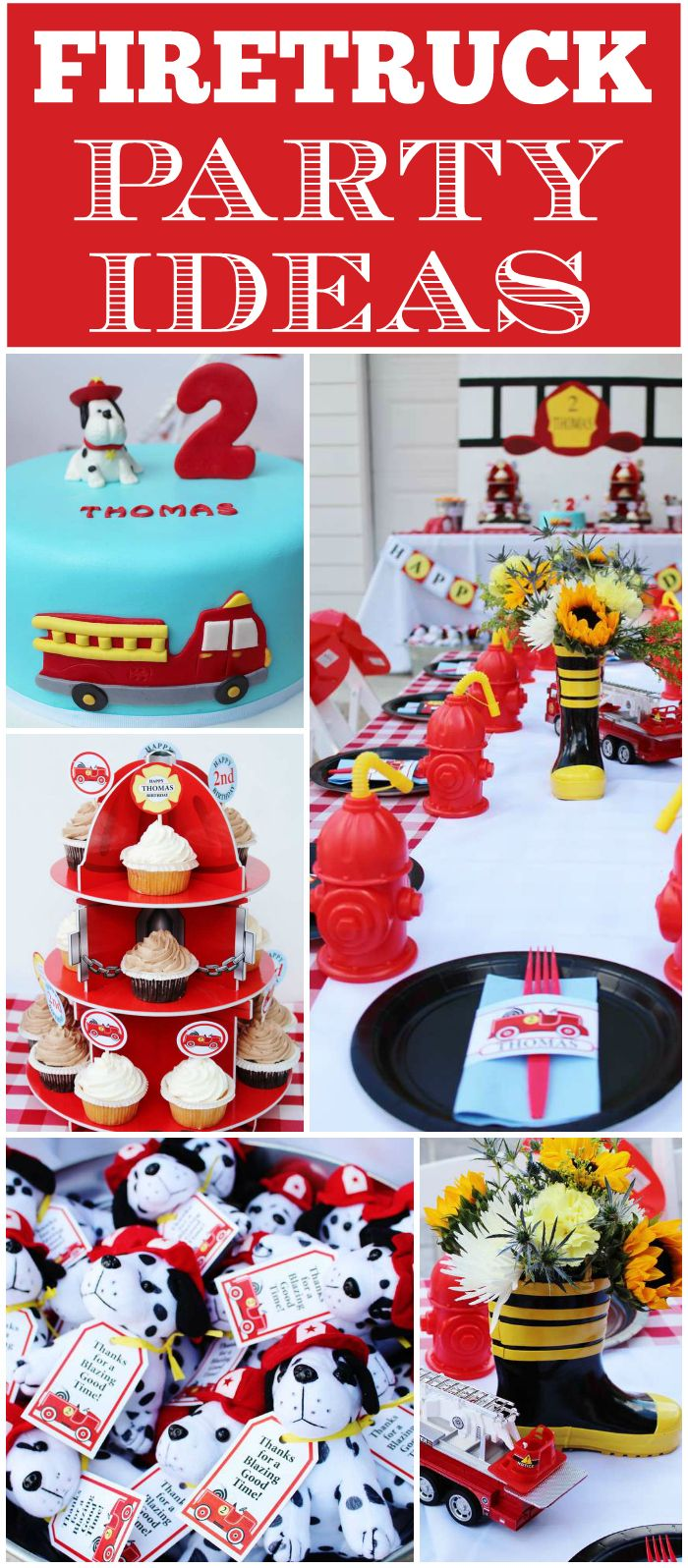 You'll want to see the fun themed foods at this firetruck party! See more party …