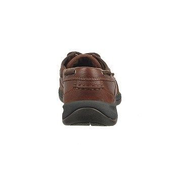 Rockport Works Men's Sailing Club Steel Toe Boat Shoes (Brown) - 10.0 W