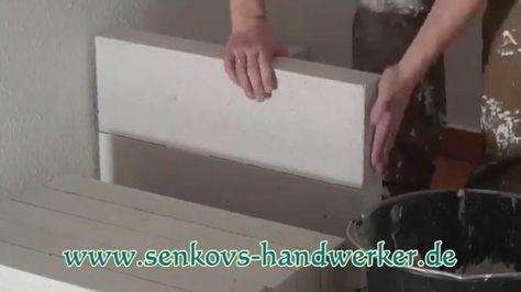Küche selber bauen aus Ytong Porenbeton Steine mit Senkovs