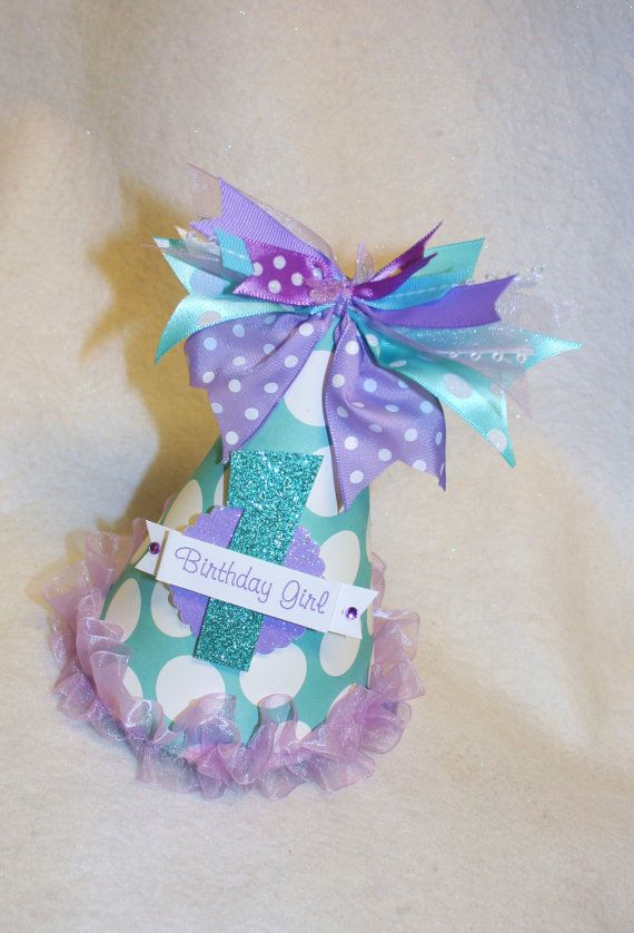 Sparkly Light Purple and Aqua Mermaid Party by LittlePinkTractor, $13.50