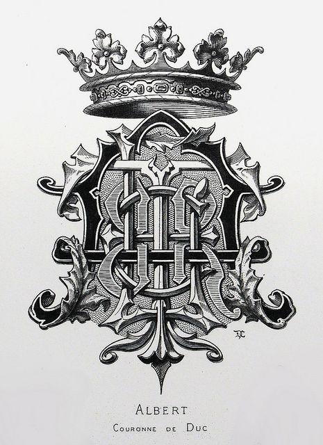 "Monogram ""Albert"" by Charles Demengeot - 1877"