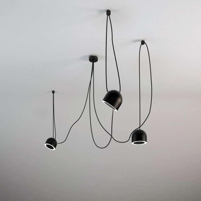 LAMPA wisząca DOBO 710/E14/CZ Shilo metalowa OPRAWA zwis IP20 pająk spider czarna