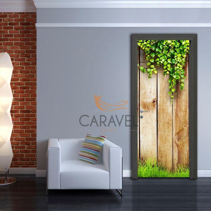 Αυτοκόλλητο Πόρτας ξύλα