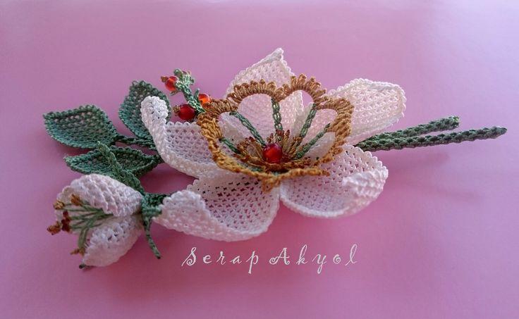 #çiçek #takı #broş #iğne oyası #ELİŞİ#kadıneli #Turkish needle lace