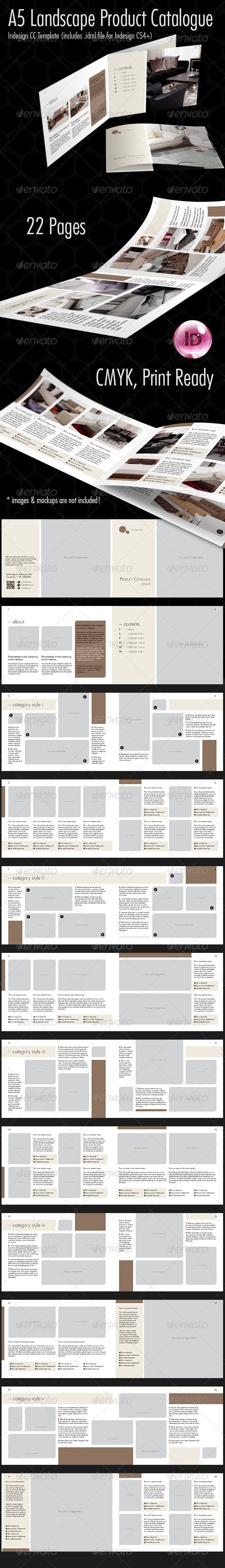 22 Pages Product Catalog Template