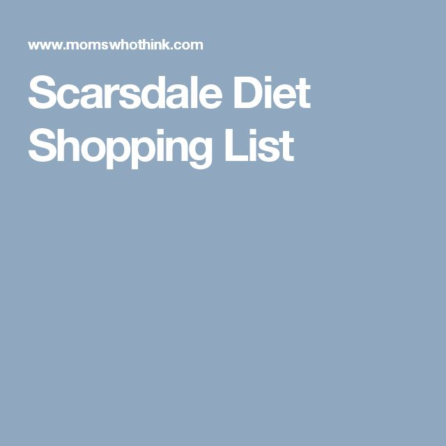 Scarsdale Diet Shopping List