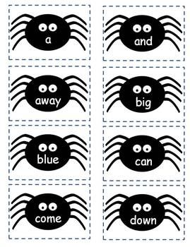 Halloween Sight Word Spider Game (free)