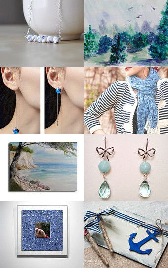 Blue and white dreams by Georgia on Etsy--Pinned with TreasuryPin.com