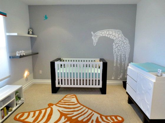 Giraffe Wall Decal for Nursery or Baby's Room - Nursery Decor - Gender Neutral