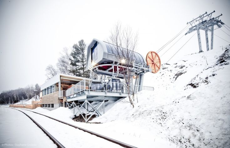 Train station, and ready to ski