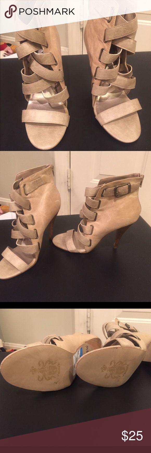 Fergie strappy heels Fergie strappy heels. Never worn. No trades. Fergie Shoes Heels