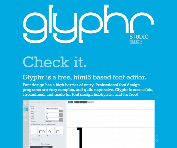 Glyphr, the free HTML5 based font editor