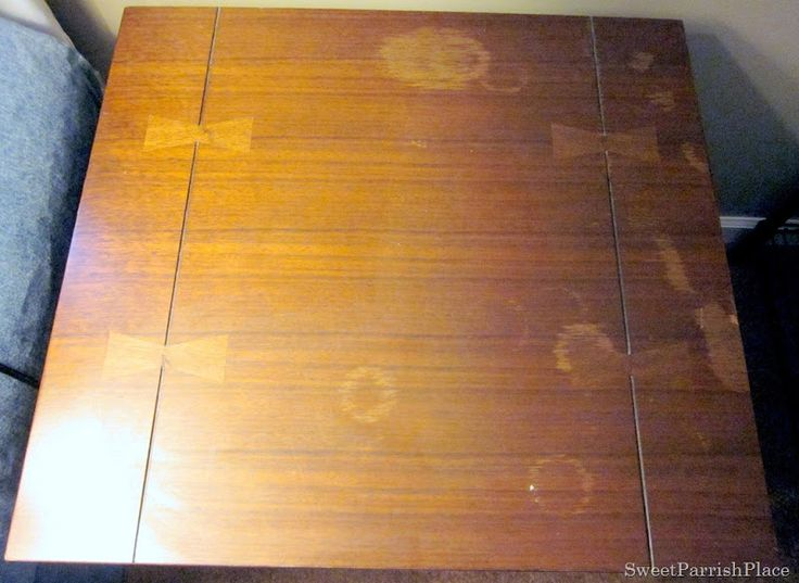 Recipe for removing Water Stains and marks from furniture:Olive Oil, Table Salt