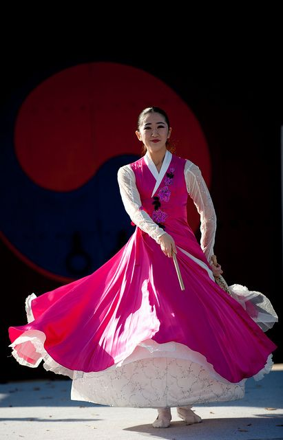 Korean dance performance at Hwaseong in Suwon, Korea