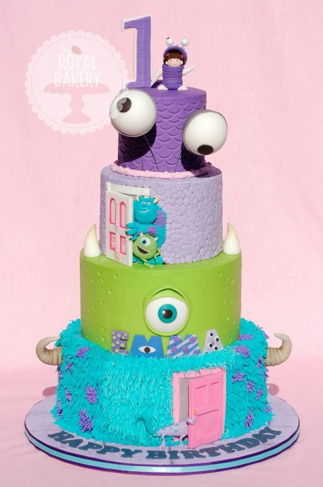 The Disney Cake Blog: Monsters Inc Cake -  WOW!!