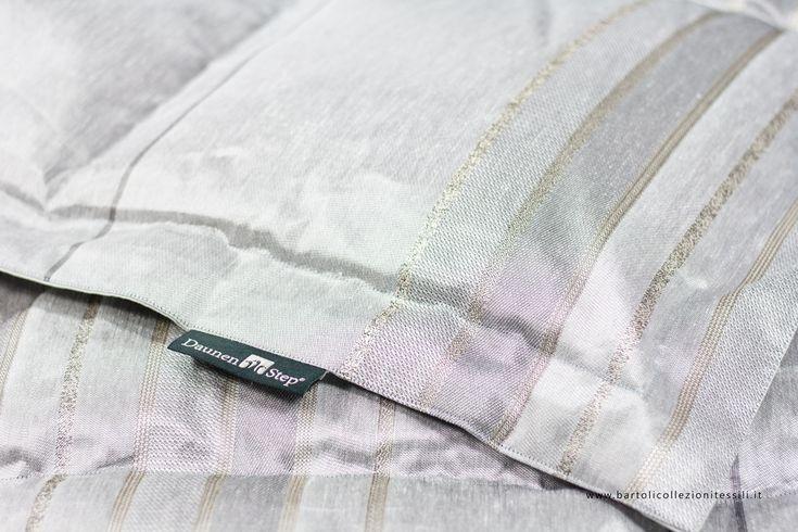 DaunenStep double quilt #gray #striped #bed - Trapunta matrimoniale