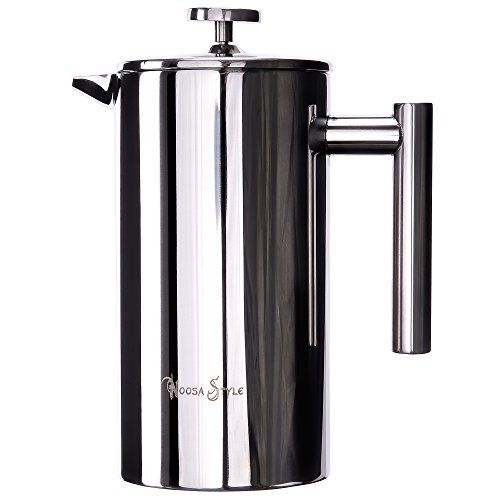 FRENCH PRESS POLISHED STAINLESS STEEL 1000ML COFFEE PLUNGER by NOOSA BEACH STYLE ** To view further for this item, visit the affiliate link Amazon.com.