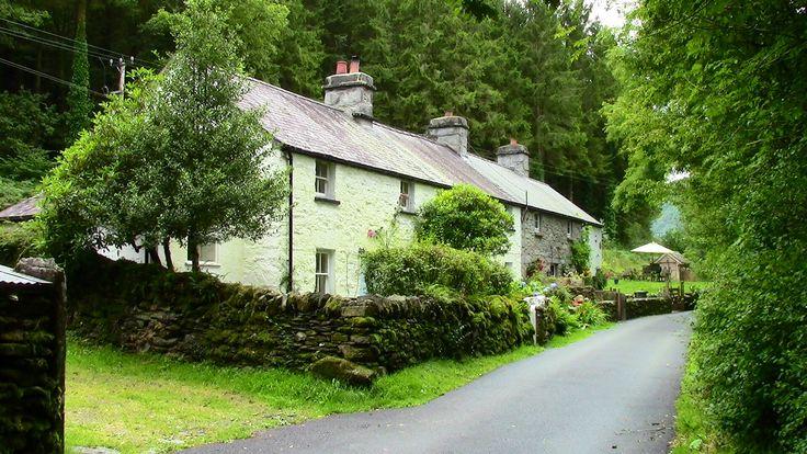 Pretty lanes & cottages in rural N.Wales-Lledr Valley.