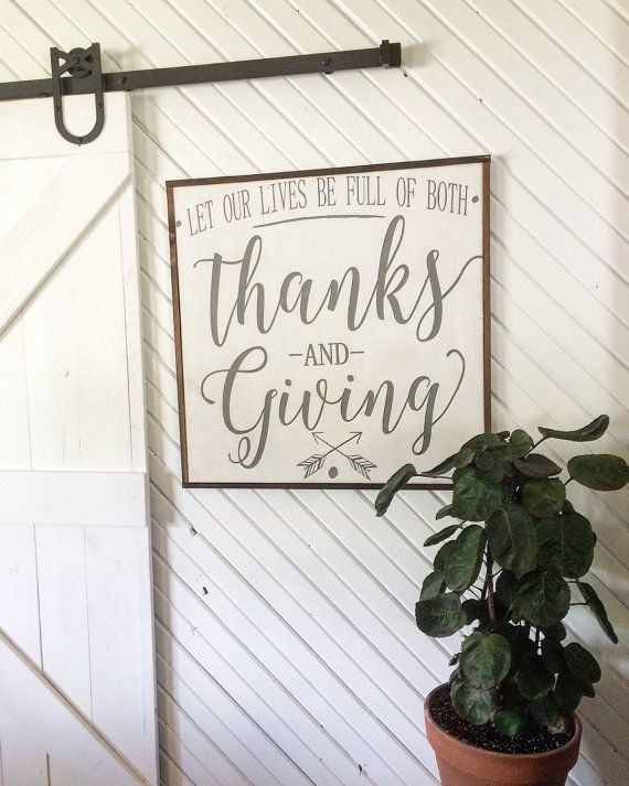 Thanks and giving framed wood sign * fall decor * thanksgiving sign