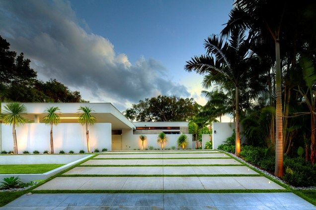 images of driveway landscaping | modern-driveway-grass-bands-dwy-landscape-architects_10290.jpg