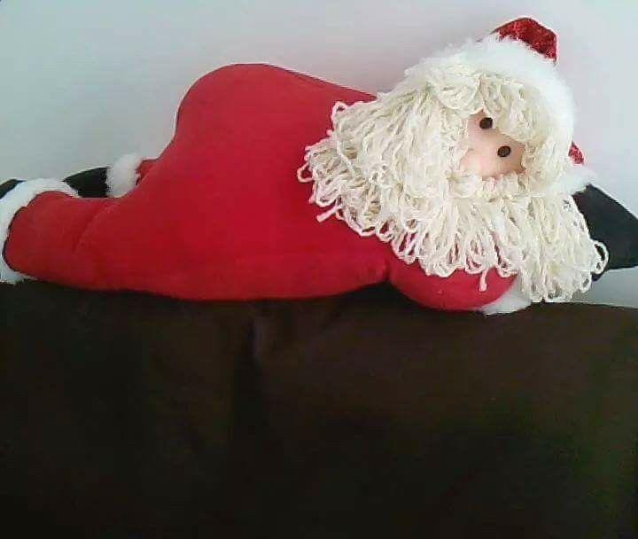 Noel acostado de muñecos navideños blanca nieve