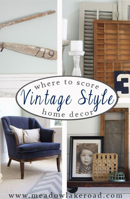 Where To Find Vintage Style Decor