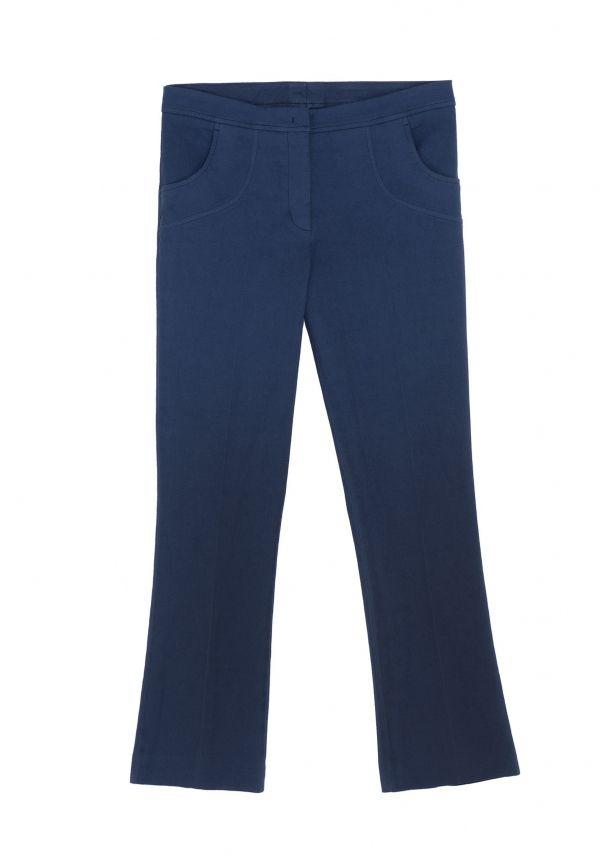 QL2 - MEDA WOOL COTTON PIQUET CROPPED FLARED PANT  (SIMPLE AS AN IDEA) #women's #fashion