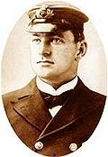 Lieutenant Henry Tingle Wilde, was the Chief Officer of the Titanic. Because Wilde was off-duty at the time, & he did not survive, his movements during the sinking are unknown. He took charge of filling & lowering lifeboats on the port side & also gave firearms to Lightoller & Murdoch. By 1.40 AM, most of the port lifeboats had been lowered, and Wilde moved to the starboard side. He was last seen trying to free the collapsible lifeboats A and B from the roof of the Officers' Quarters.