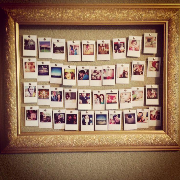 Instagram picture DIY frame! #instagram #photoframe