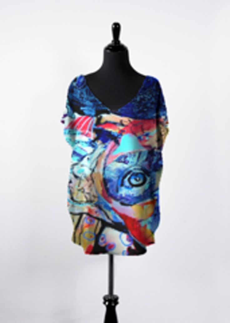 Printed Racerback Top - METAMORPHOSIS by VIDA VIDA