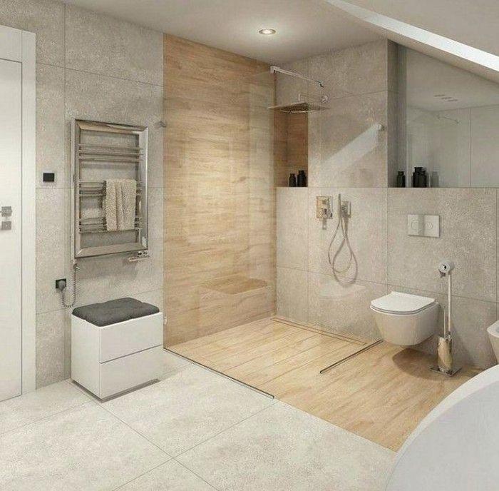 Badezimmer Ideen Schwarz Weiss Ebenerdige Dusche Badezimmer