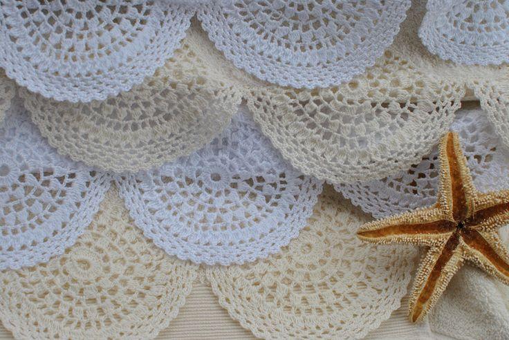Aplicaciones de crochet toallas y s banas crochet - Sabanas y toallas ...