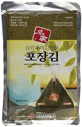 Myungga gim, Onigiri Rice Ball Triangle Sushi Seaweed Wrappers Nori Refill 20counts (20g) Read more  at the image link.