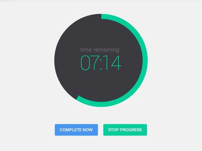 ToDo Progress Timer UI | #flat #minimal #design #mobile #ui #ux #inspiration #todo #progress