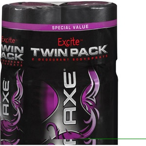 Axe Excite Scent Deodorant Bodyspray, 4 oz, 2 count