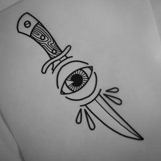 old school knife tattoo - Sök på Google