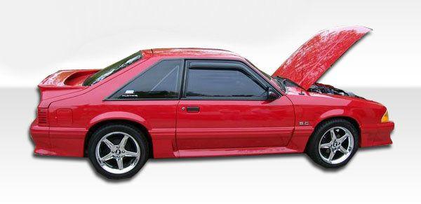 Duraflex 79-93 Ford Mustang Cobra R Side Skirts Rocker Panels Kit
