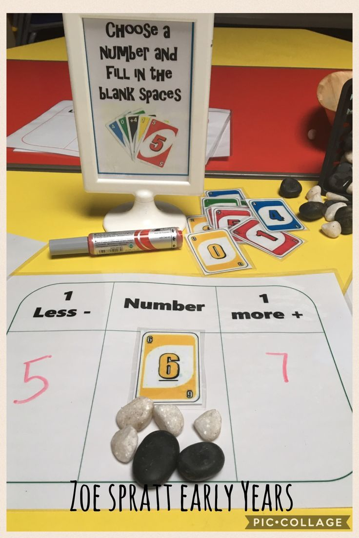 1 more 1 less early years maths activity