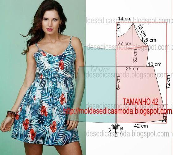 PASSO A PASSO MOLDE DE VESTIDO Faça o molde deste belo vestido com as coordenadas que encontra na discrição em baixo. O molde do vestido encontra-se no tam