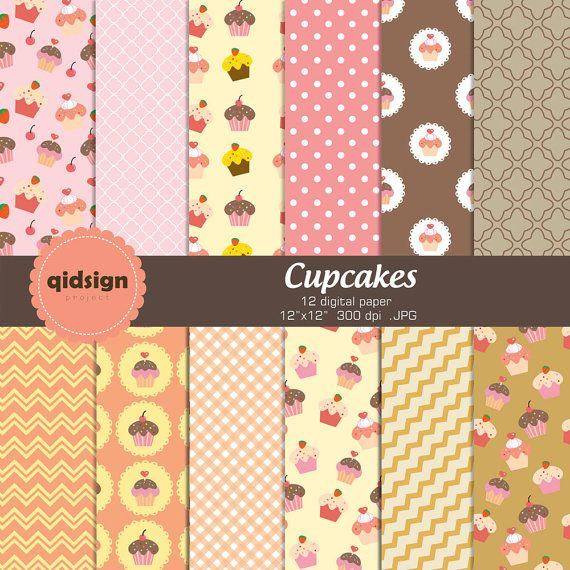 Hey, I found this really awesome Etsy listing at https://www.etsy.com/listing/156664547/cupcake-digital-paper-pack-personal-and