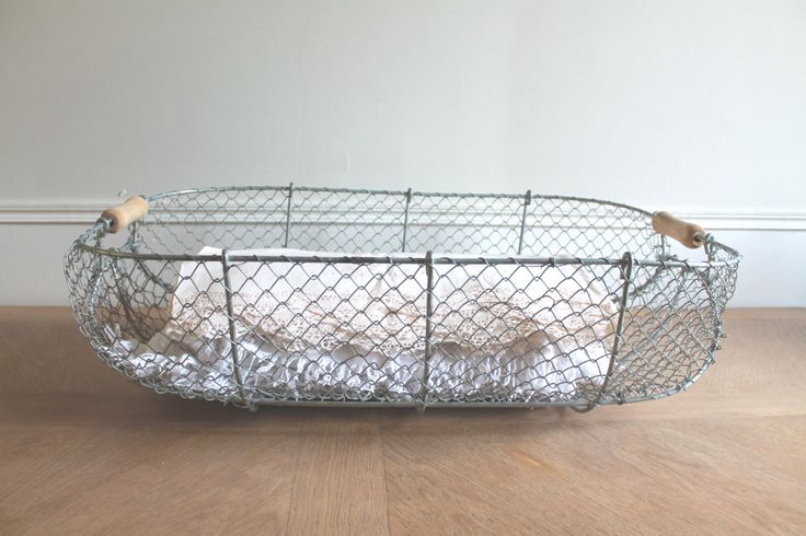 LARGE Wire Laundry Basket, French Wire Basket, Farmhouse Antiques, Antique Baskets, Clothes Basket, Storage basket, Apple Crate, Home decor by LaNormandyBoutique on Etsy https://www.etsy.com/listing/238257372/large-wire-laundry-basket-french-wire