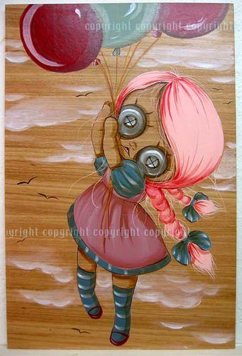balloon rag doll by pinkytoast
